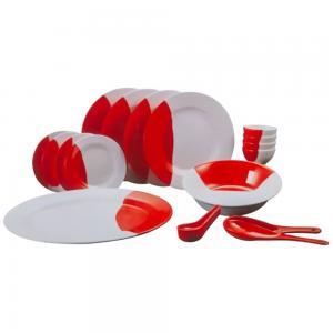 Sanford Dinnerware Set Melamine 20 pieces Embossed, SF9307MWST