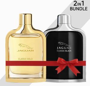 Jaguar Classic 2 Piece Black & Gold Edt Spray for Men, 100 ml each