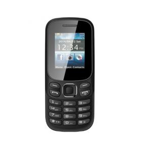 H Mobile B312 Mini Cell Phone Slim Mobile Phone FM Radio Bluetooth MP3 Dual SIM Cards, Color BLACK