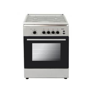 Akai Freestanding Gas Range Cooker CRMA606SC - Silver/Black