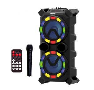 Geepas Rechargeable Bluetooth Speaker Usb TF Fm Rmt Karaoke Mic 1x1 GMS11138