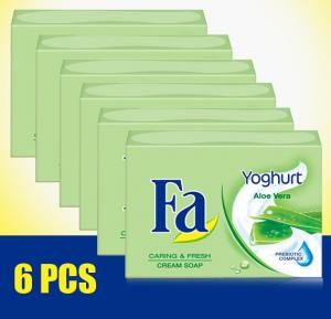 6 pieces Fa Soap Yoghurt Aloe Vera 175gm