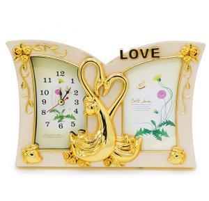 Bait Al Designary Table Clock With Photo frame Love