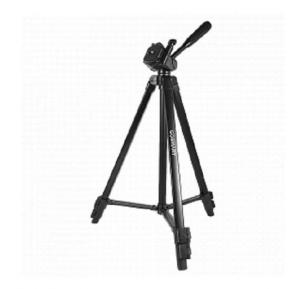 Go Smart Professional Foldable 3 Way Pan Head Camera Tripod 4.4 Ft. With Bag