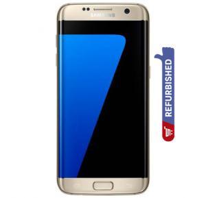 Samsung Galaxy S7 Edge 4G Smartphone,  5.5 Inch Display, Android OS, 4GB RAM, 32GB Storage, Dual Camera(Refurbished) - Gold