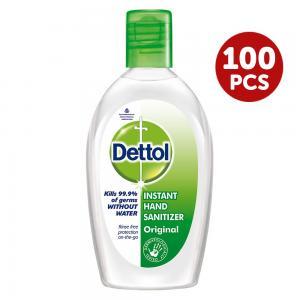 Dettol 100 piece Hand Sanitizer Original, 50 ML