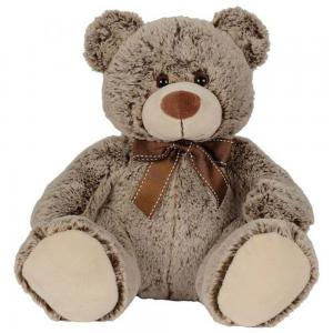 Nicotoy  Sitting Bear With Ribbon 26cm Dark Brown, 6305812826