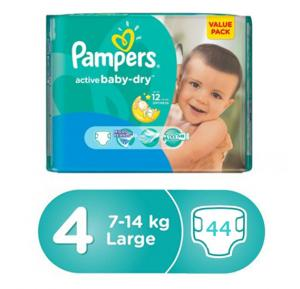 Pampers Main line Value Pack 7-14Kg, VP-44 Count(1*44pcs)