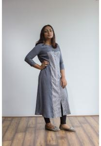 Buy 2 Ruky Fareen Women Long Top Flair Kurti Full Sleeve RF 209, 210 and Get RF 211 M