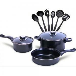 Royal mark 11-Piece Non-Stick Cookware Set Rmcw-9711 Black/Clear