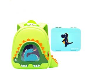 Nohoo Stegaurous  Backpack and Bento Lunch Box-Green CM_NHBN_011 Green (16*11.5*31)