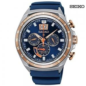 Seiko Men Chronograph Blue Dial Watch, SSC666P1