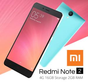 Xiaomi Redmi Note 2 Smartphone, Android 5.0, 5.5 Inch Display, 2GB RAM, 16GB Storage, Dual Camera, Dual Sim- Grey