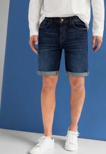 Springfield Denim Bermuda Shorts, Dark Blue