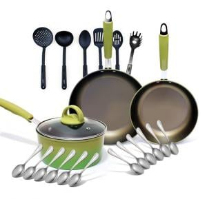 22 Set Bundle Offer Buy Epsilon 4 Pcs Cook Ware Set - EN3812 And Get Olympia 6 pcs Kitchen Tool Sets, 12 pcs Stainless Steel Dinner spoon sets, LI-1199 Free