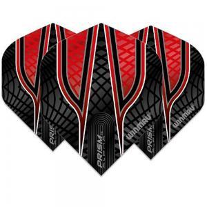 Winmau Prism Alpha Black And Red Dart Flight 3 Pcs, WIN-FLT-6915-121-PB