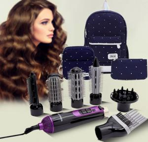 2 in 1 Bundle Pack Krypton 7 in 1 Hair Styler Kit, KNH6028 With Jig PIn 3 Combo Pack Ladies Bags