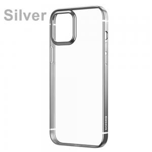 Baseus Premium Plating Phone Case For iPhone 12 Mini Transparent Back Case Soft TPU Case Cover Coque Shell Silver