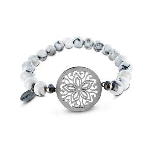 Coco88 Womens Stainless Steel Bracelet, 8 mm ,8CB-80002 WHITE