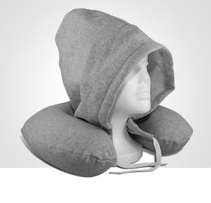 T&F Hooded a soft pillow Body-Solid Particle Candy Neck Pillow Cotton Textile House Travel Pillow