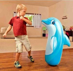 Intex Hit Me Dolphin Big size Huge Rubber Toy For Kids, 44670NP 38 x 24 Inches