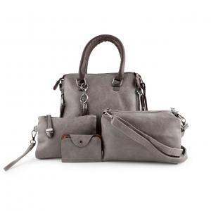 4 pc womens new bags grey color