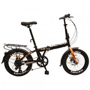 Genio 2.0 Folding Bicycle, Black Orange