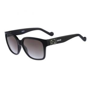 Liu Jo Rectangular Ebony Frame & Black Gradient Mirrored Sunglasses For Woman - LJ621SR-001