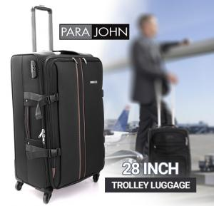 Para John 28 Inch Trolley Luggage, Grey- PJTR2023