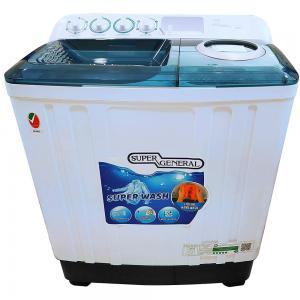 Super General Washing Machine 8KG, White - SGW85