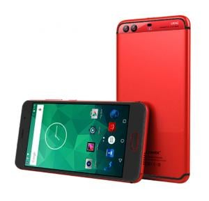 Blumix P10i Smartphone, Android 6.1, 5.5 Inch HD Display, 2GB RAM, 16GB Storage, Dual Camera, Dual Sim, Wifi- Red