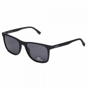 Lacoste L882S Black Square Sunglasses For Unisex Gray Lens, Size 55