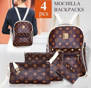 Mochilla famous backpack for women set of 4 Pieces