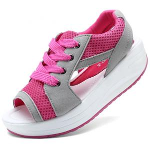 Women Breathable Exercise Shoes,Pink,Size 38