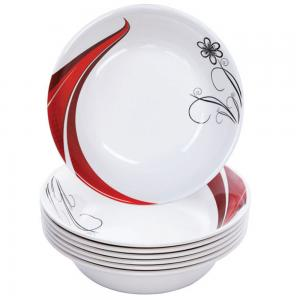 Flamingo BB1460FL 4 PCS Melamine 9 Soup Bowl set