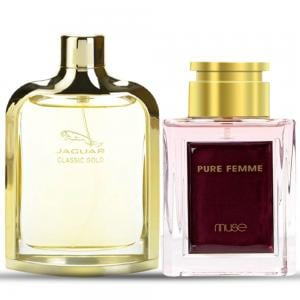 2 in 1 Bundle Pack of Jaguar Classic Gold 100 ml And La Muse Pure Femme Edp 80 ML