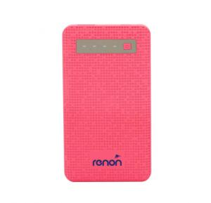 Renon RN-413  6000mAh Power Bank, Pink