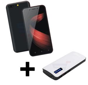 2 In 1 Bundle Offer Lenosed  i7 4G Smartphone - Black And Power Box 15000 mAh Power Bank