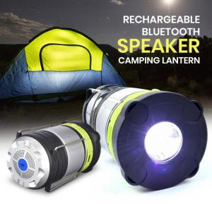 Rechargeable Bluetooth Speaker Camping Lantern With 1800mah Battery USB Interface SH-5088