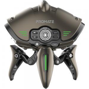Promate True Wireless Speaker, Premium Sci-Fi Designed 30W Advanced Bluetooth 5.0 HD Speaker, Invader, Grey