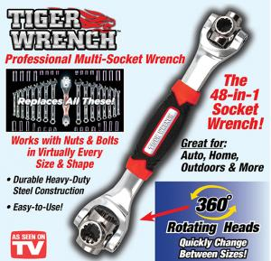 Tiger Wrench Professional 48 In 1 Multi Socket Wrench