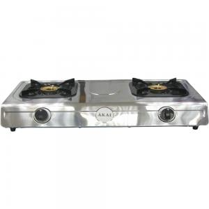 Akai Table Top Cooker 2 Gas Burner Full Safety, TTMA-2B