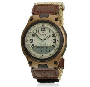 Casio Analog Digital With Beige Strap Men Watch - AW-80V-5BVDF