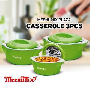 Meenumix Plaza Casserole 3pcs Set Reg, PL3PCR