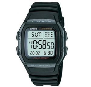 Casio W-96H-1BVDF  Digital Black Dial  Watch For Men