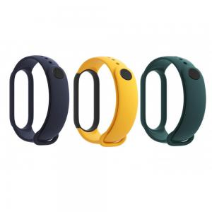 Mi Smart Band 5 Strap 3 Pack Navy Blue/Yellow/Mint Green