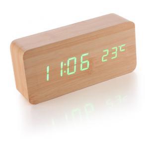 Wooden Clock Led Rectangle Alarm Clock