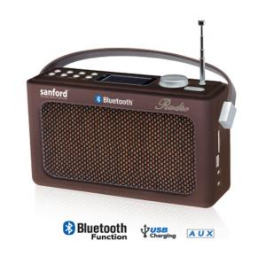 Sanford Fm Radio With Usb And Bluetooth SF3306PR BS