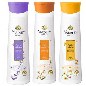 Yardley Body Lotion Pack Of 3, Lavender Sandalwood and 1 Blossom, 200ml