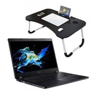 2 in 1 Combo Offer Acer TravelMate HD Laptop, Intel Processor, 12.5 inch Screen 4GB RAM, 250GB HDD WiFi, Bluetooth, HDMI, Windows 10 -Refurbished And Get FREE Laptop Table